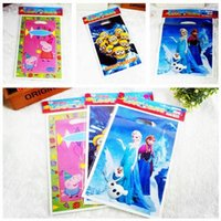 Wholesale 2016 minion Frozen Gift Wrap gift bags Festive Party Supplies Birthday Supplies