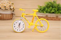 plastic table clock - Bikes Style alarm clock bicycle Plastic fashion personality model Creative gifts for bids Table Clocks