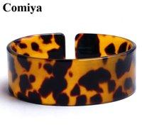 arms wide open - Feminino wrist band hand chain good luck charm wild fashion acrylic open Leopard joyeria marcas famosas wide arm cuff bangles