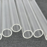 Wholesale Supply Acrylic Plexiglass Clear Tube Home Building Decor Supplies Plastic PMMA Small Hard Pipe OD12x1x1000mm Length