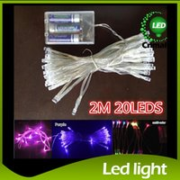battery operated lights - 3XAA Battery m LED String Mini Fairy Lights Battery Power Operated Pure Cold Warm white Blue Red Yellow Green Pink Purply multi color