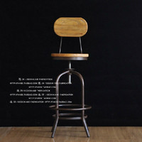 bench lift - American do old wrought iron bar chair The sitting room bench high chairs Rotating lifting bar chair
