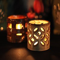 oil lamp - Hollow Out Cute Aroma Oil Burner Home Fragrance Aromatherapy Lamp Furnace Oil Container Party Decoration Ceramic Essential Oil Burner DC845