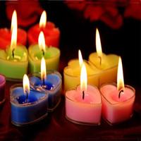 Wholesale 100pcs Romantic Wedding Candle Heart Round Silk Rose Petal Courting Birthday Votive Candle Tea Light Christmas Wedding Decoration