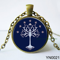 antique inspired rings - hot christmas gift glass cabochon antique bronze Fashion Jewelry Lord Of The Rings Inspired Pendant Gondor Tree Pendant