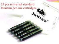 Wholesale 25pcs Jinhao Black Universal Fountain Pen Ink Cartridges A5