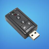 Wholesale Notebook desktop computer usb to separate sound reverberation K song Headsets USB External Sound Card