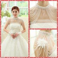 beaded jewelry online - High Neck Beading Wraps Rhinestone Beaded Bridal White Beading Shawl Jacket Bolero Bride s Wraps Jewelry Top Online