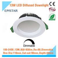 bathroom downlight kit - 13W Warm White SMD LED Dimmable Downlight Kit Cutout mm