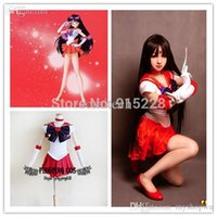 Wholesale Sailor Moon cosplay Sailor Mars Hino Rei Cosplay Costumes Any Size