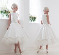 wedding dress feather - 2015 Vintage Wedding Dresses Crew Sash Bow Feather Tea Length Wedding Gowns Back Covered Button Custom Made Beach Vintage Bridal Dresses