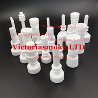 Wholesale Multi Styles Factory Price mm mm mm male and female ceramic nail domeless ceramic nail for smoking factory direct sale