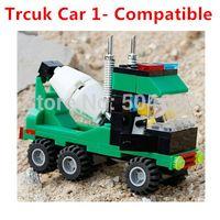 Cheap Wholesale-102pcs Cement Truck Car 1 Small Building Blocks Set Intelligence Toy Bricks 100% Compatible Boys Toys