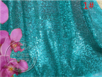 Wholesale Embroidery Sequin For Women Dress Table Cloth Wedding Decoration in Royal Blue Black Green Navy Pink Red Gold Silver Sequined Fabric