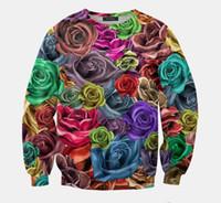 Cheap New 2015 Women Men Clothing Color Roses Galaxy 3D Print Sweatshirts Pullovers Sportswear Hoodies Long Sleeve Sweats Sport Suit