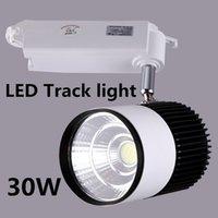 Wholesale LED Track Light W COB Rail Light Spotlight Lamp Replace W Halogen Lamp AC85 V Warm Cold Natural White