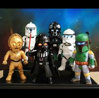 action figures vintage - High Quality SET Star Wars Black Knight Darth Vader Vintage Stormtrooper cm PVC Action Figure Toys Models Gifts