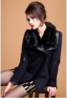 rabbit coat - 2014 new qiu dong outfit rabbit fur cloth coat coat with Europe and the United States short thickening of cultivate one s morality woolen cl