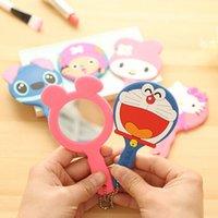 Wholesale Korean cartoon silicone cosmetic mirror portable creative with handle small mirror makeup tools