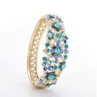 adorn gift box - 18 k gold set auger new cloisonne blue bracelets National wind restoring ancient ways adorn article Crystal bracelet with exquisite box