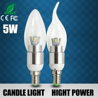 Wholesale Hot Power Led Light Bulbs E14 w w w w Led Candle Lights V Led Bulb Lamp Tubes Warm Cool White Led Candle Bulbs