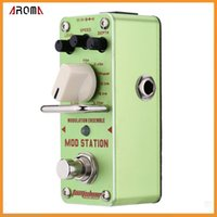 ams guitar - AROMA AMS Mod Station Modulation Ensemble Electric Guitar Effect Pedal Mini Single Effect with True Bypass