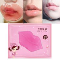 Wholesale 100 set PILATEN Crystal Collagen Lip Mask Collagen Protein Crystal Women Replenishment Lip Film Lip color anti cracking