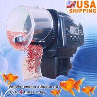 Wholesale US Stock To USA Digital Automatic Pet Fish Auto Feeder with Aquarium Food Timer Gestante Aquario Para Peixes Decoration
