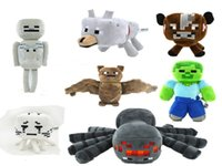 video games - NEW minecraft plush dolls Steve Zombie cow spider bat skeleton ghast wolf Video Games stuffed toys my world best gifts for boys girls