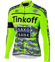 banks jacket - WINTER FLEECE THERMAL ONLY CYCLING JACKETS CLOTHING LONG JERSEY ROPA CICLISMO TINKOFF SAXO BANK FLUO GREEN SIZE XS XL