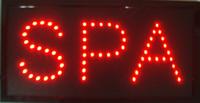 Ouvrir SPA salon lumineux LED massage ongles de bronzage Inscrivez magasin Magasin neon beauté rouge