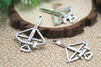 antique crossbow - 8pcs crossbow Charms Antique Tibetan silver Daryl crossbow Charms pendants x34mm