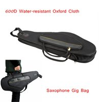 alto saxophone gig case - Professional Alto Sax Saxophone Gig Bag Case Backpack D Water resistant Oxford Cloth Design Saxophone Accessories