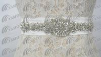 Satin trimmings - Wedding Belt Crystals Floral Beads Rhinestone Bridal Sashes Ribbon Trim Wedding Dress Belt Bridal Accessories Sash
