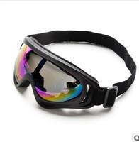 Wholesale TOP Ski Goggles Snowboard Skate Goggles Glasses Outdoor Motorcycle Road Ski Goggle Glasses Eyewear Lens Men Women Skiing Eyewear