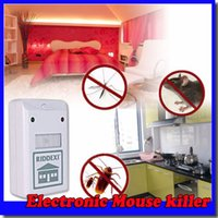 Wholesale Ultrasonic Electronic Mouse killer mosquito mouse roach cockroach mice rat Repeller pest repellent V V