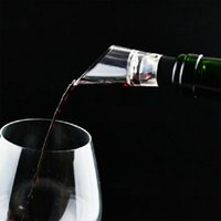 acrylic wine stopper - Stainless Steel Liquor wine Pourer Filter Acrylic Free Flow Wine Bottle with Stopper Set