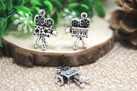 antique movie cameras - 7pcs Movie Camera Charms Antique Tibetan Silver D Fabulous Movie Camera Charm pendants x x mm
