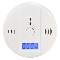 Wholesale Battery Powered LCD CO Carbon Monoxide Poisoning Alarm Sensor Detector White