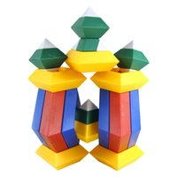 Wholesale 15pcs set Kids toys Diamond Changeable Building Blocks Magic Tower Pyramid Cube Assembly Educational Toy Toy for Baby Children