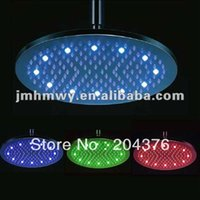 Cheap 16 inches stainless steel LED Overhead shower head