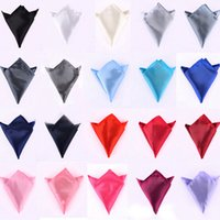 Wholesale New fashion Men child pure color Handkerchief Noble Suit Man s Satin Pocket Square Handkerchief Wedding Party Prom Ornaments