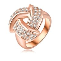 Wholesale 2015 New fashion k gold ring Can be used wedding rings and party and christmas gifts Fast shipping