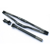 Wholesale RXL SL Carbon Fiber MTB Bicycle Bike Parts Set Carbon Flat Riser Handlebar Stem seatpost