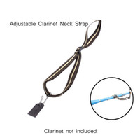 Wholesale Light weight Compact Adjustable Clarinet Neck Strap Cotton with Metal Hook Leather Piece Clarinet Accessories order lt no track
