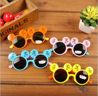 Wholesale In stock High quality Children s sunglasses Cartoon Baby sunglasses candy colored decorativebeach sunglasses china kids sunglasses XD