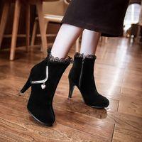 Wholesale 2015 sexy lace dress shoes stiletto heels shoes for lady high heels shoes dress shoes meatal love elegant shoes wedding shoes