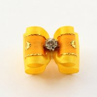 beauty store products - Armi store Handmade Accessories Pet Yellow Ribbon Dog Bow Puppies Beauty Products