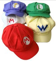 Cheap Super Mario Cap Brothers Hat Forever Bro Anime Mario Hat Men's Flexible Fits Cap Cosplay Party Hat