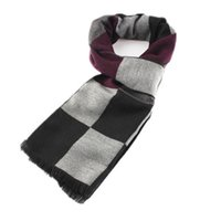 authentic scarf - new Korean men s stylish Plaid cashmere scarf stay warm in winter bib tide authentic gift package mail